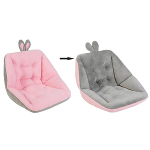 Exclusive amazon hot seller original two-sided two-color plush rabbit Home Office seat cushion