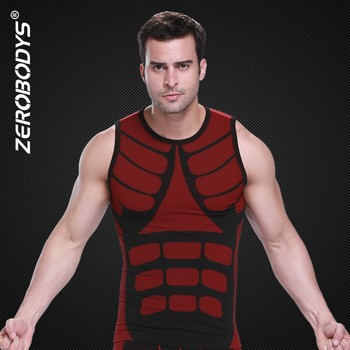 394 RD ZEROBODYS Outdoor Quick Dry Bicolor Training Vest Jogging Men Brand Sports Top for Yoga Spandex Long Tank for Men