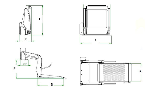 Electric Platform Lift Wheelchair Lift For Van And Minivan