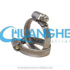 american type of stainless steel hose clamps/hose clips