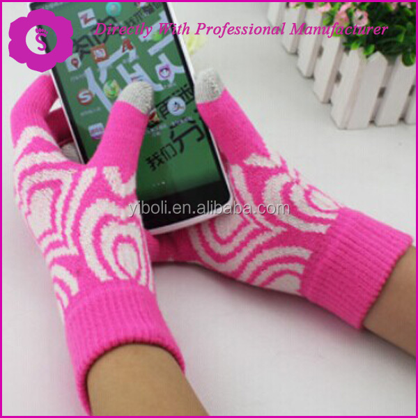 Shangyu YIBOLI Knitting Co., Ltd MADE FASHION ACCESSORIES Smart Fingers Touch Smart PHONE SCREEN Acrylic Gloves & Mittes