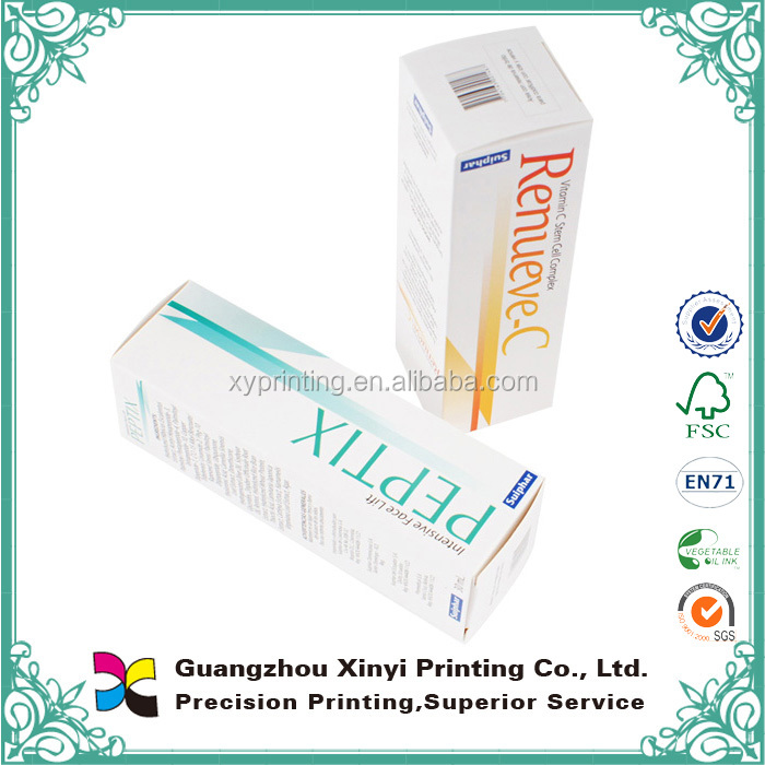 Cheap cosmeceutical paper packing box printing