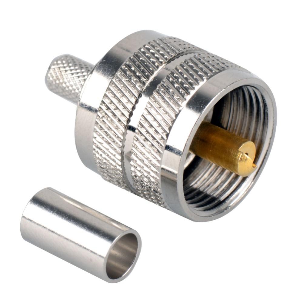 10pk Mini UHF Male Crimp RG58 J