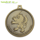 Cheap custom bronze color royal lions of scotland metal trophy medal