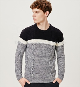 Fashion style heavy gauge cable knit man wool pullover sweater design mens cable knit jumper knitwear