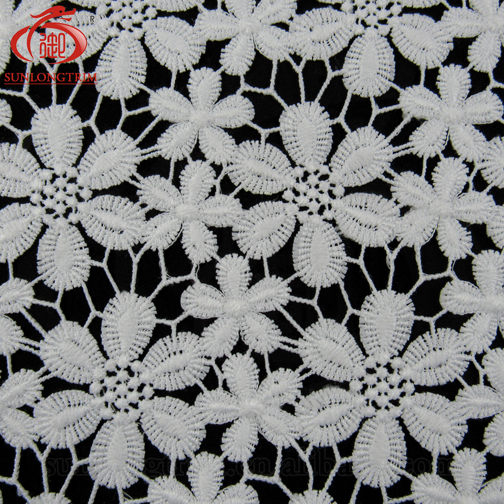 25.5cm wide flower lace trim french guipure lace trim polyester lace trim for dress