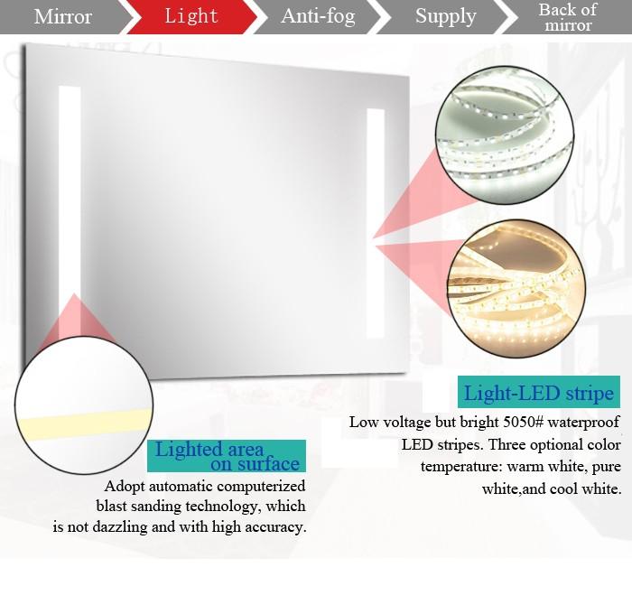 Full Length Lighted Mirrors,Led Bathroom Mirror,Bathroom Mirror ...
