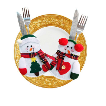 handmade santa suit christmas silverware cutlery holder knives and fork pockets - Christmas Silverware Holders