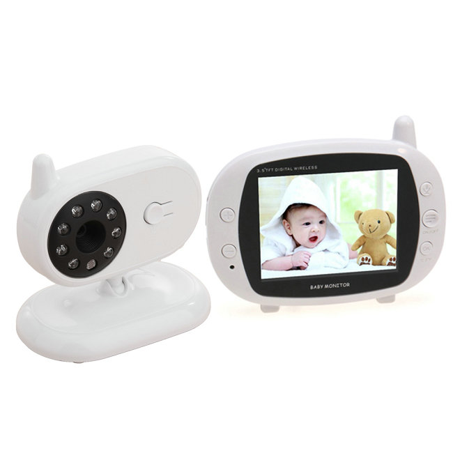 Baby Monitoring 3.5 Inch 2.4g Digital RF modulation LCD Screen Baby monitor with Night Vision
