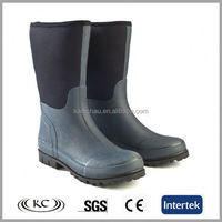 Navy on sale half cheap steel toed rubber waterproof wellington boots for men