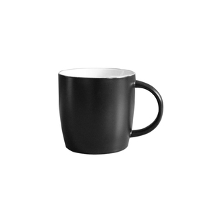 2018 Hot sell Black ceramic coffee mug 350ml matte black mug with logo