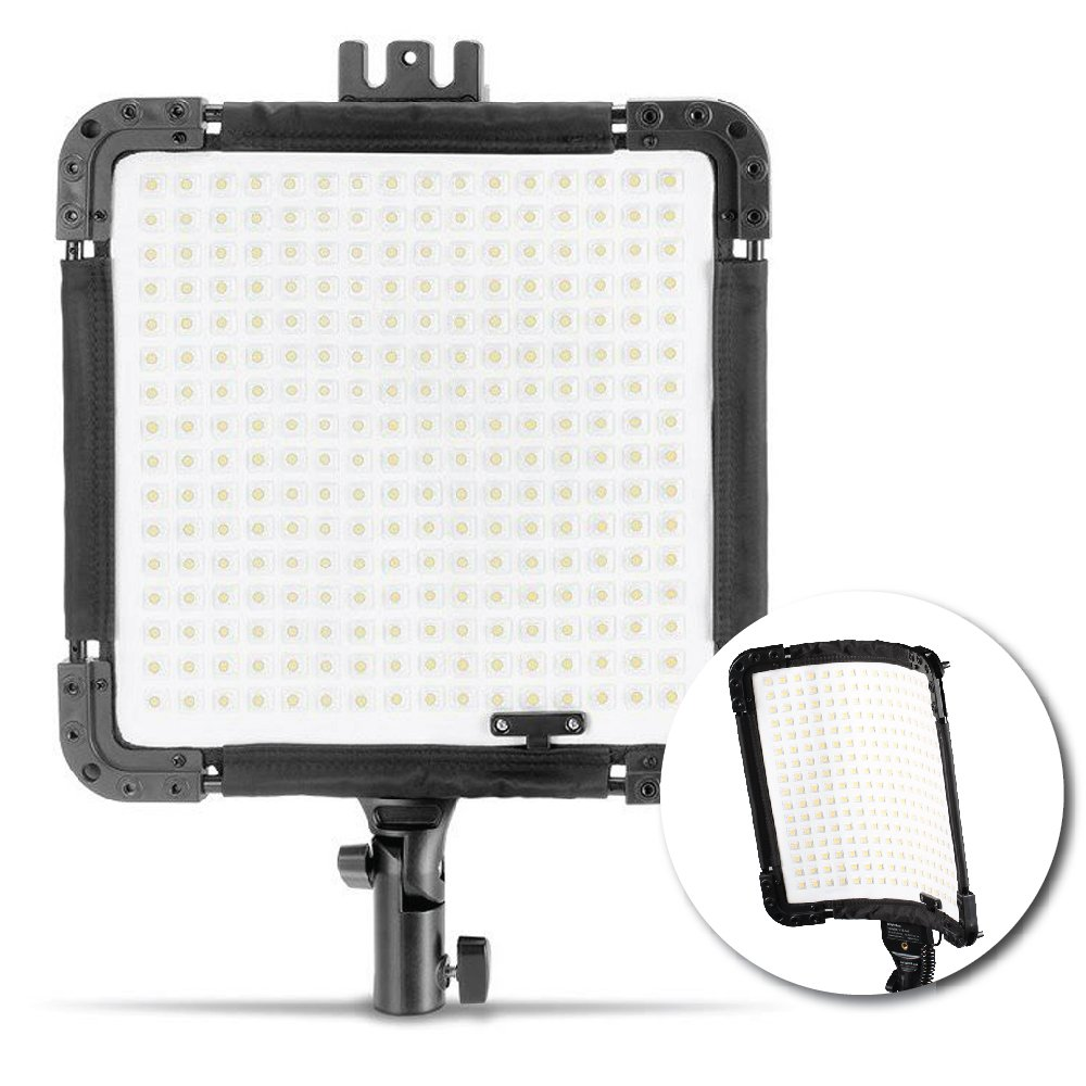 Kamerar BrightCast V15-345 Bi-Color Flexible LED Light Panel: U-Mount and AC Adapter, Water Resistant, Shock Proof, Rugged, Daylight and Tungsten (U-Mount)