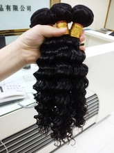 Double weft deep curl wave cheap human hair weaving 100% Russian remy human hair extensions