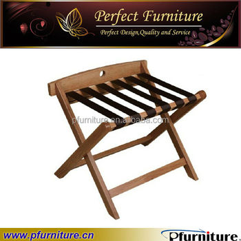 Awesome Hotel Bedroom Durable Construction Solid Wood Hotel Luggage Rack Wooden Luggage  Racks PFD41009