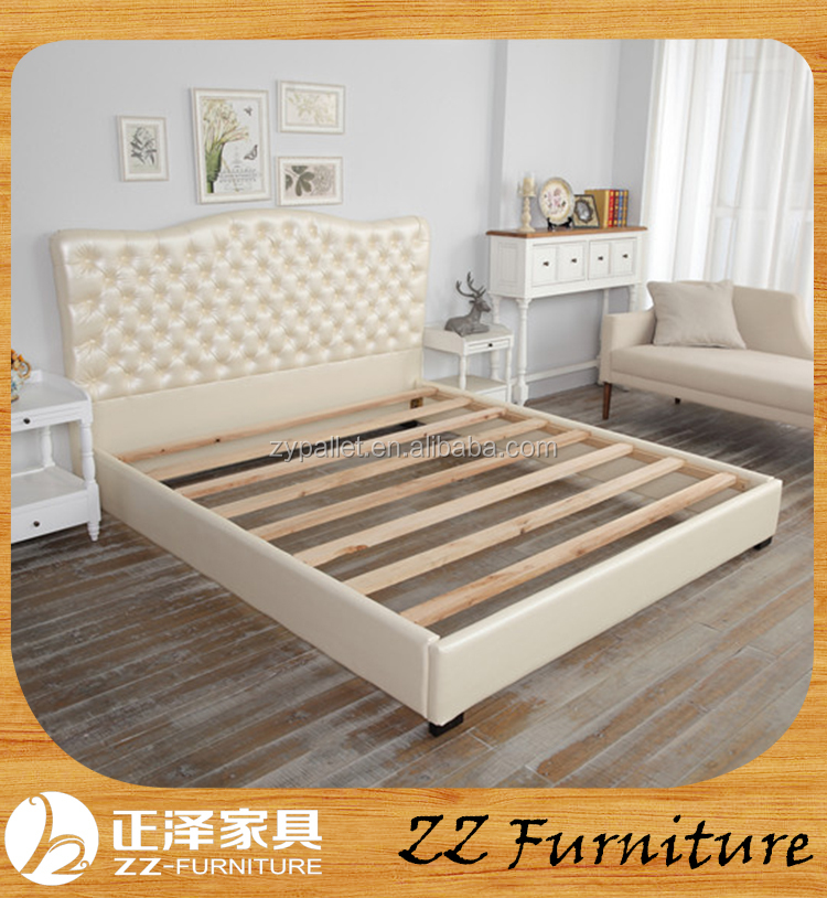 American style farmhouse Vintage Bed Wood bedroom furniture made in China