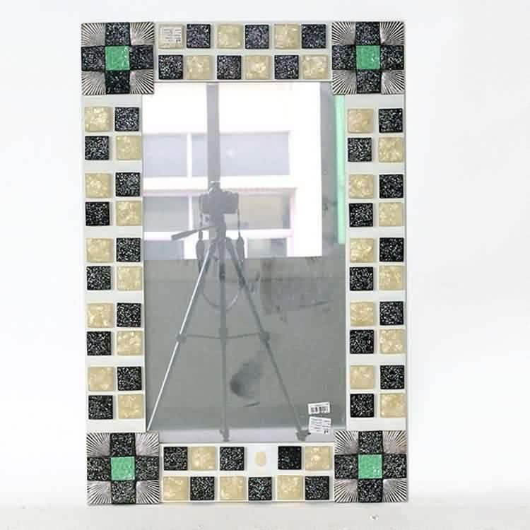 Norhs Cuadrado Shell Único Baño Enmarcado Espejo Mosaico Diseños ...
