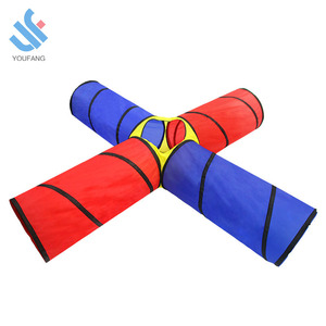 YF-W9118 baby toddlers 4-way tunnel pop up children baby play pop up tent climbing tubes kids play tent tunnel