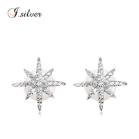 925 sterling silver earrings with pearl from silver jewelry E10023