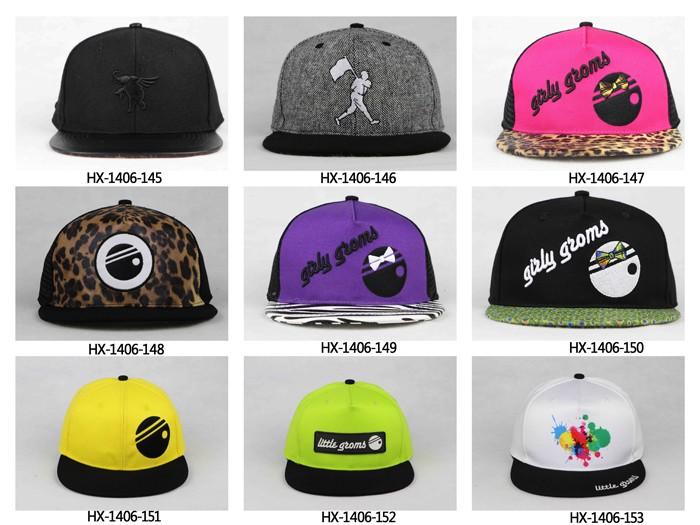 Customize Flat Brim Hats Snap Back/snapback Caps Wholesale 5 Panel ...
