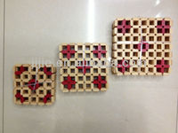 3types Good quality Bamboo table mats
