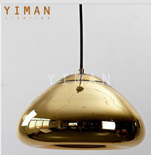 industrial style modern top design unique Glass E27 led Pendant light indoor decor ce ul Gold Pendant lamp