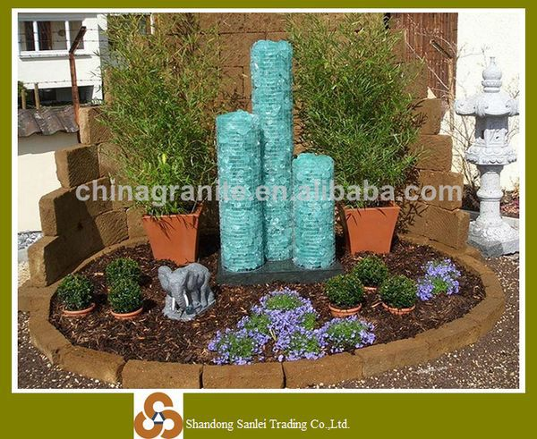 Top recycled crystal blue broken natural glass rocks for gabion