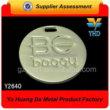 custom good looking shiny zinc alloy dog tag