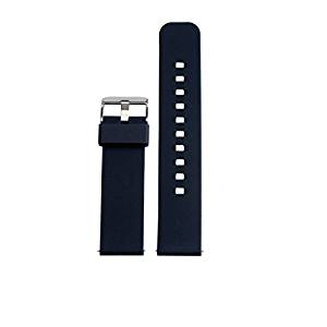Egeek Watch Band/Strap for Pebble Time Smartwatch Band Replacement Accessories with Metal Clasps Watch Strap/Wristband Silicone (navyblue )