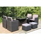 Garden KD dining set Rattan Wicker Outdoor Garden Furniture Patio rattan cane set furniture