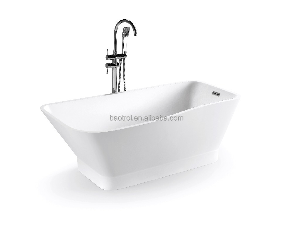Easy to clean light weight large white artificial stone bathtub