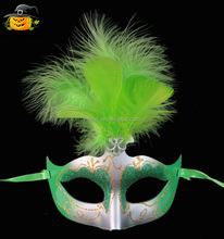 Verde pena dance party masquerade máscara do <span class=keywords><strong>carnaval</strong></span>