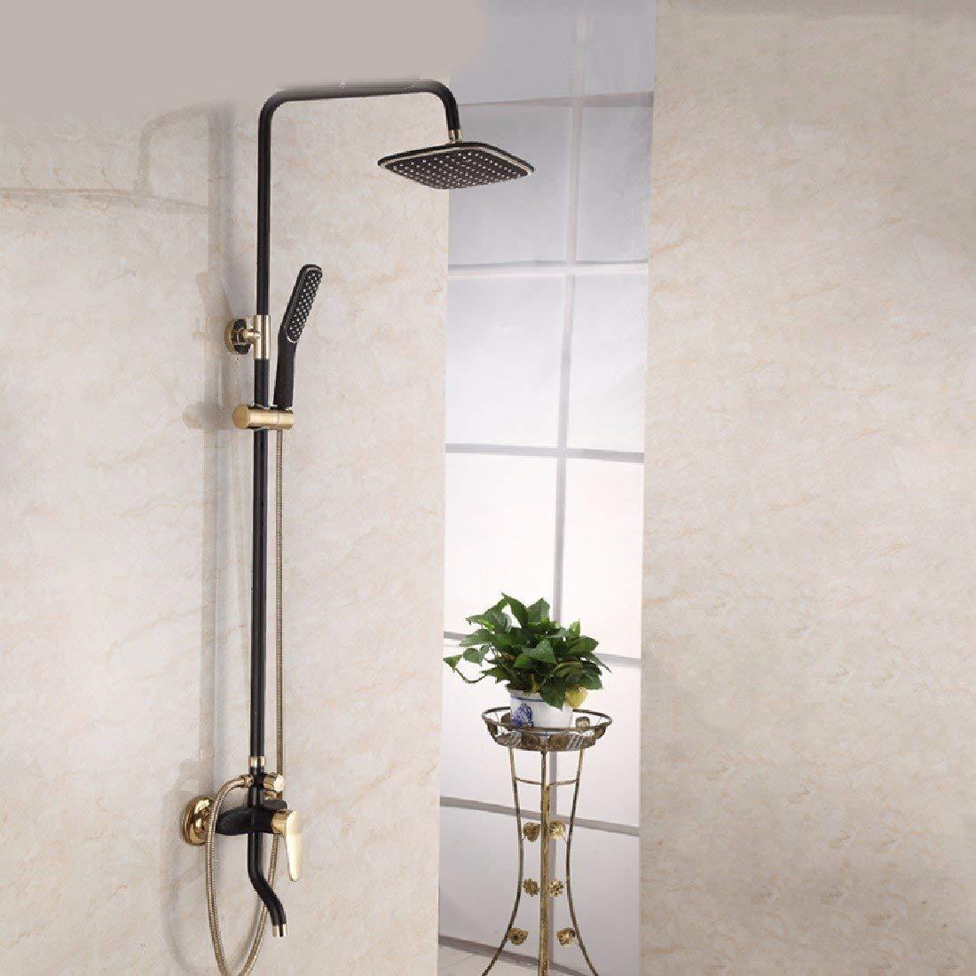 Home Improvement Cold And Hot Mixer Faucet Shower Tap Set Bathroom Antique Sprinkler Suit All Copper Vintage Antique Bronze Shower Faucet