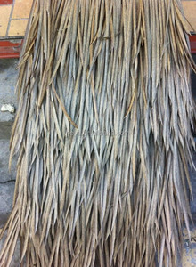 Eco-friendly fireproof Artifical palm synthetic thatch roof tiles