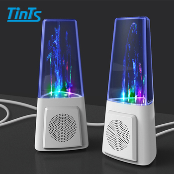 Best selling twins dancing water stereo speaker with LED light