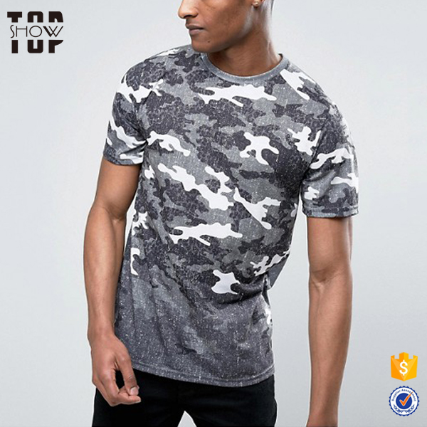 Custom Front Camouflage Print Latest T Shirt Designs For Men - Buy T ... d92373e66b7