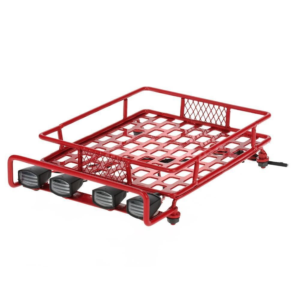 Red Rc Tamiya Truck Metal Roll Cage Roof Rack Crawler For
