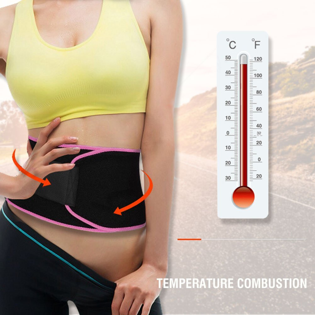 f14a112219 Get Quotations · Waist Trimmer Belt for Women Men Adjustable Waist Trainer  Weight Loss Wrap - Adjustable Wrap for