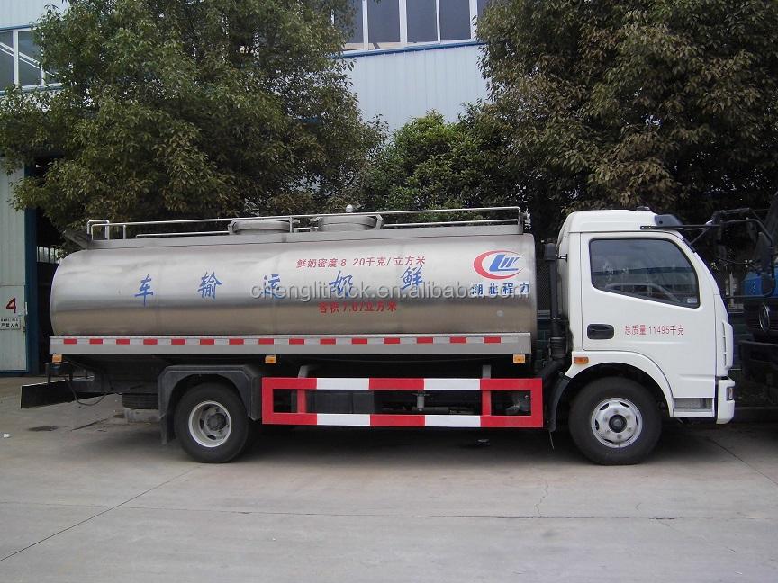 Mobile Tanker Truck Milk Tanker Cooling Tank Dongfeng Milk ...