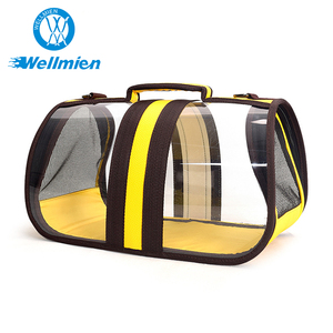 New Design Breathable PVC Net Transparent Pet Carrying Bag Sling For Cat
