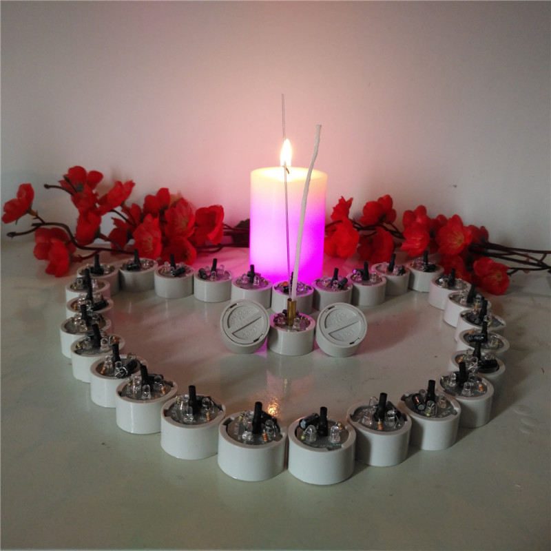 Hot-selling Light-activated led component light for color changing candle