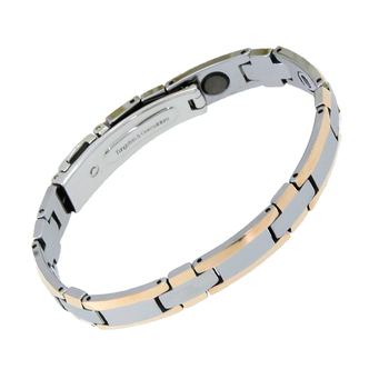 New Products Korea Tungsten Rose Gold Jewelry Germanium Bracelet Benefit Energy Healthy