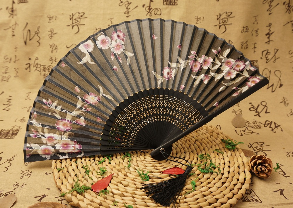 articles for use custom foldable manual wedding hand held fan