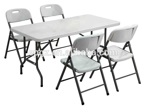 6 Seater Cheap Sale Modern School Pe Plastic Dining Table And