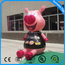 Guangqian Advertising Inflatable Cartoon,Promotion Pig Characters