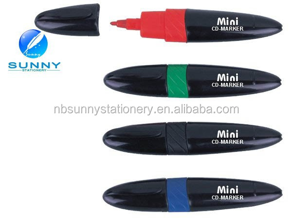 custom mini CD/DVD permanent marker pen for promotion