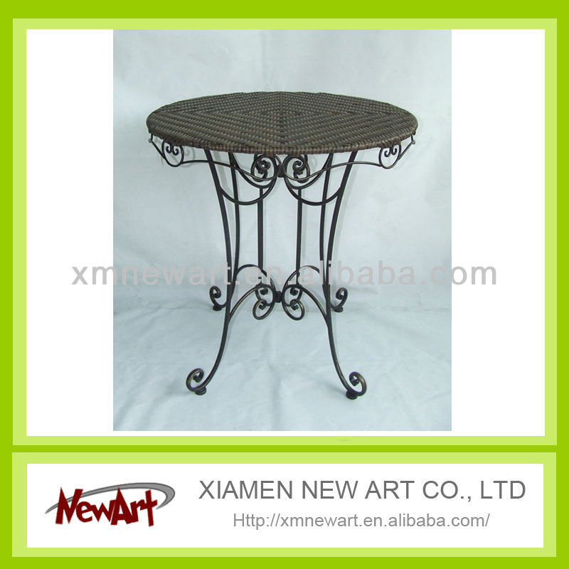 2013 new arrival garden table outdoor wicker furniture