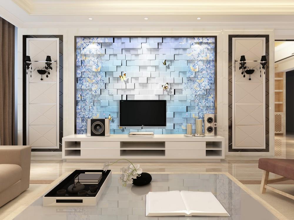 Di Bawah Air Dunia Cetak Ceramic Dinding Tile Untuk Ruang Tamu Televisi Latar Belakang