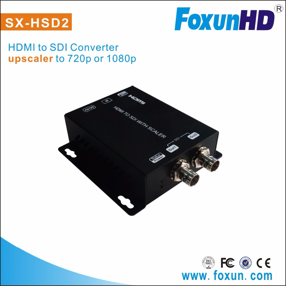 high performance HDMI to SDI Converter upscaler (720p/1080p), with 2 SDI outputs Convert HDMI to SD/HD/3G-SDI