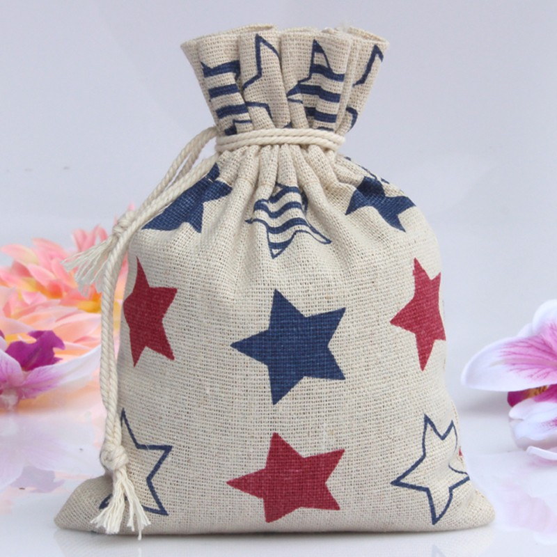 cheap custom jute recycling bags