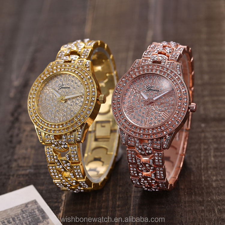 2019  New Ladies  Crystal Rhinestone Charming Beautiful Elegant Fashion Fancy Wristwatch